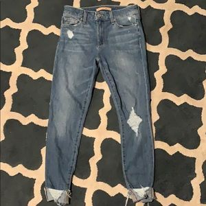 Joe's Jeans cropped ankle length destroyed jeans